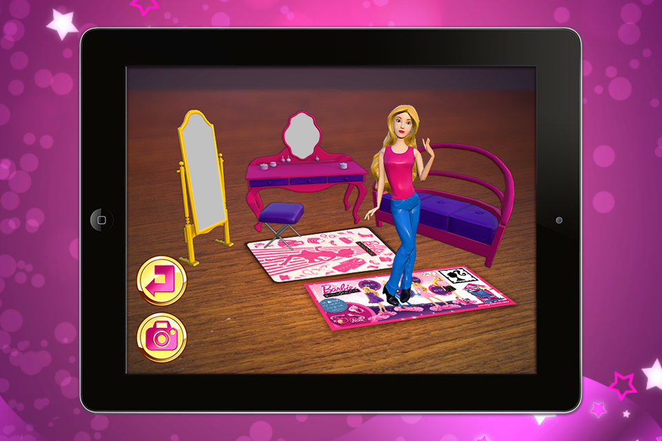 Screenshot Barbie Fashionistas Augmented Reality